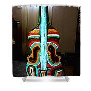 Guitar Vase Shower Curtain