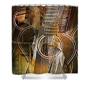 Guitar Works Shower Curtain