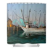 Gulf Shrimpers Shower Curtain