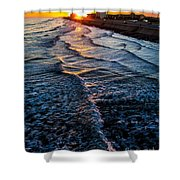 Gulf Sunset Shower Curtain by Perry Webster