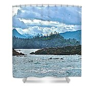 Gull Island Rookeries In Kachemak Bay-alaska Shower Curtain