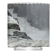 Gullfoss Waterfall Iceland Shower Curtain