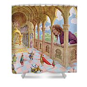 Gulliver At Lilliput Shower Curtain