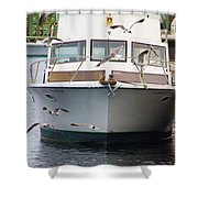 Gulls And Boat Shower Curtain