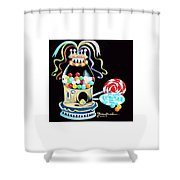 Gumball Machine And The Lollipops Shower Curtain