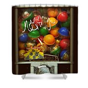 Series - Gumball Silver Bars With Graffiti - Iconic New York City Shower Curtain