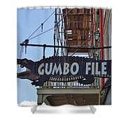 Gumbo File Shower Curtain