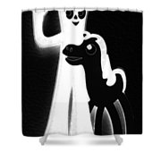 Gumby And Pokey B F F Black White Shower Curtain