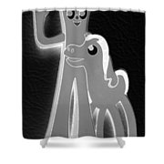 Gumby And Pokey B F F In Negative Black And White Shower Curtain