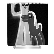 Gumby And Pokey B F F In Negative B W  Shower Curtain