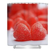 Gumdrop Hearts Shower Curtain