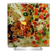 Gumdrops N Ginger Bread  Shower Curtain