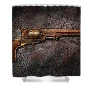 Gun - Colt Model 1851 - 36 Caliber Revolver Shower Curtain