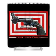 Gun Control Shower Curtain