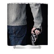 Gun Shower Curtain by Edward Fielding