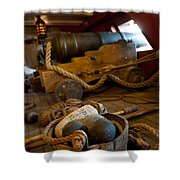 Gunnery Port Shower Curtain