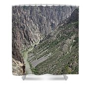 Gunnison River At The Base Of Black Canyon Of The Gunnison Shower Curtain