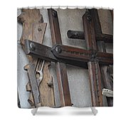Guns And Crosses Shower Curtain