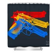 Guns Shower Curtain