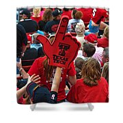 Guns-up Salute Shower Curtain