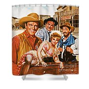 Gunsmoke Shower Curtain