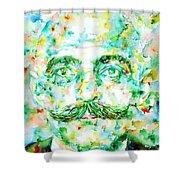 Gurdjieff- Watercolor Portrait Shower Curtain