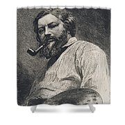 Gustave Courbet Shower Curtain