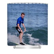 Guy Surfing Shower Curtain