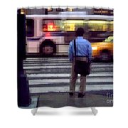 Crossing The Street - Traffic Shower Curtain