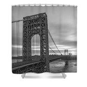 Gw Bridge Le Wide Crop Bw Shower Curtain