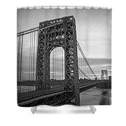 Gw Bridge Winter Sunrise Shower Curtain