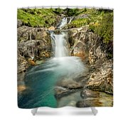 Gwynant Waterfall Shower Curtain