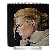 Gwyneth Paltrow Painting Shower Curtain