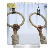 Gymnastic Rings Shower Curtain