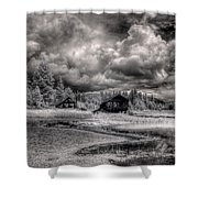 Gypsy Bay Road Lumber Mill 2 Shower Curtain