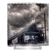 Gypsy Bay Road Lumber Mill 3 Shower Curtain