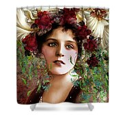 Gypsy Girl Of Autumn Vintage Shower Curtain