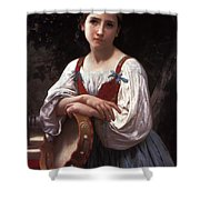 Gypsy Girl With A Basque Drum Shower Curtain