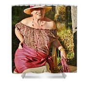 Gypsy In Cranberry Shower Curtain