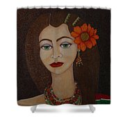 Gypsy With Green Eyes Shower Curtain
