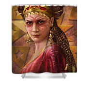 Gypsy Woman Shower Curtain by Ciro Marchetti