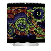 H Abs Lizzy Tail Wd2 Shower Curtain
