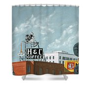 H And C Coffee Shower Curtain