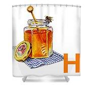 H Art Alphabet For Kids Room Shower Curtain