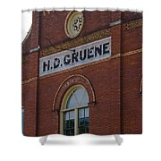 H D Gruene Shower Curtain