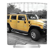 Hummer H2 Series Yellow Shower Curtain