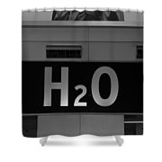 H2o In Black And White Shower Curtain