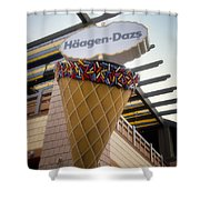 Haagen Dazs Ice Cream Signage Downtown Disneyland 01 Shower Curtain