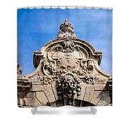 Habsburg Gate Details In Budapest Shower Curtain