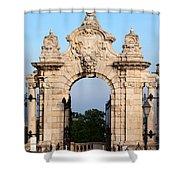 Habsburg Gate In Budapest Shower Curtain